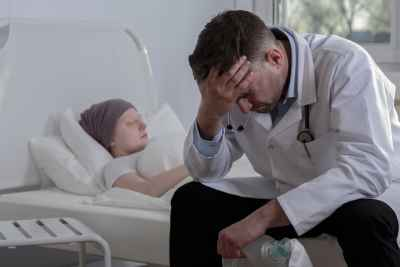 Helpless doctor and terminally ill cancer child