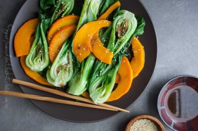 steamed-pumpkin-and-bok-choy-with-ginger-sesame-dressing-e1414774666869-716x477