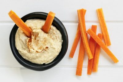 carrot-sticks-and-hummus-in-bowl