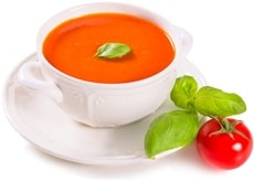 tomato-tomato-soup-and-basil-leaves