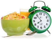 alarm-clock-cereal-and-glass-of-juice