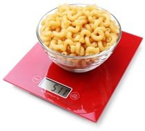 bowl-of-pasta-on-red-scales