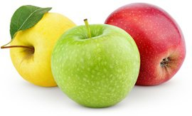 yellow-green-and-red-apples
