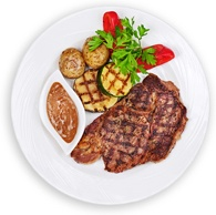 plate-with-steak-potatoes-gravy-and-bell-peppers