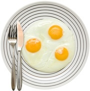 three-fried-eggs-on-plate
