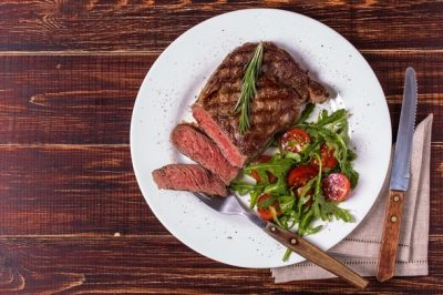 ribeye-steak-and-salad-on-plate