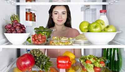 girl fridge healthy